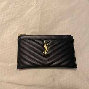 YSL Leather Bill Pouch
